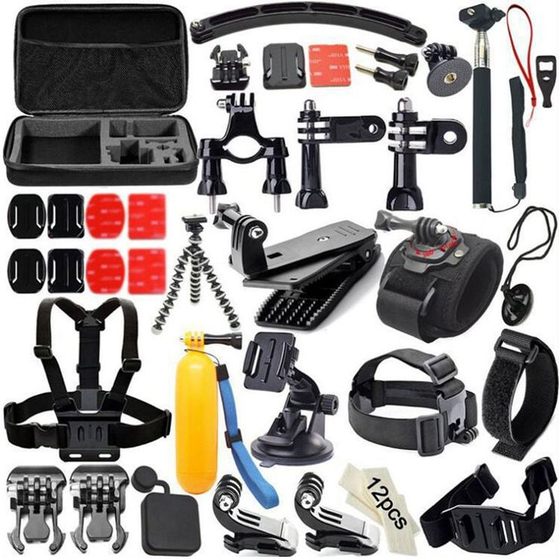 ملحقات كاميرا الحركة 50 في 1 لـ Gopro Hero 8 7 Black 5 xiaomi yi 4K Go Pro sony x3000