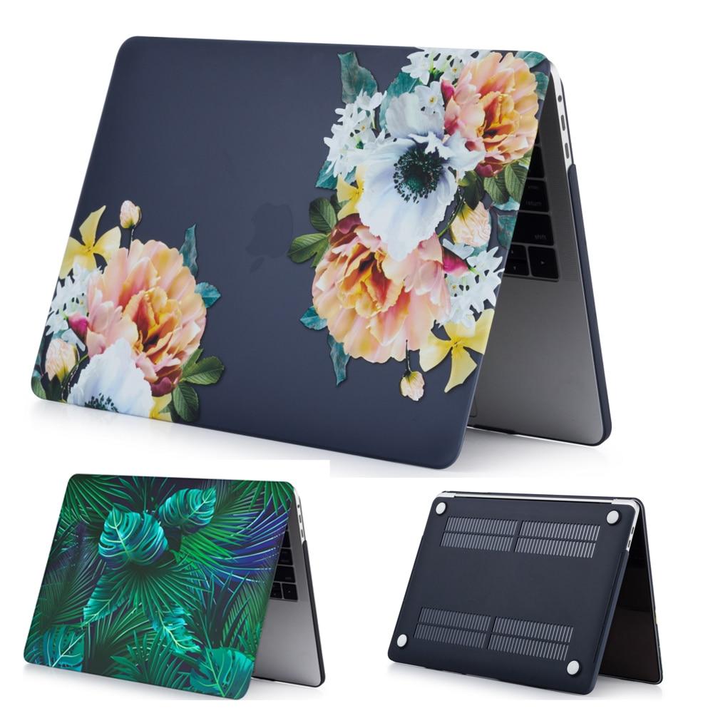 Motif fleur coque étui de protection rigide housse sac pour Apple Mac Macbook Air 11 13 Pro Retina 13 12 15