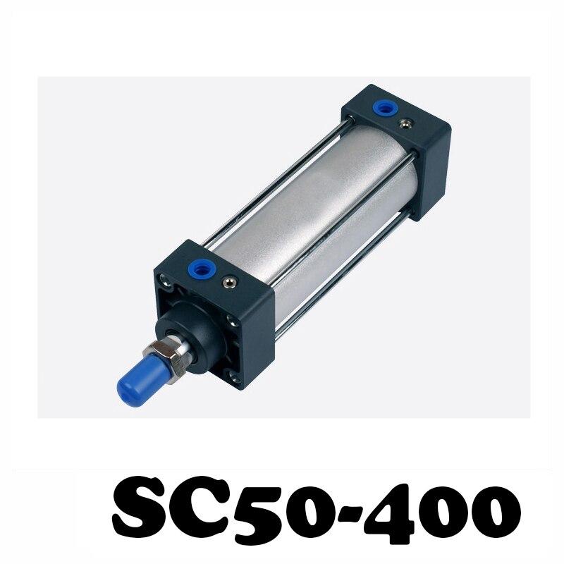 SC50-400 pręt cylinder ze stopu aluminium standardowy cylinder SC50X400 elementy pneumatyczne 50mm otwór 400mm skoku