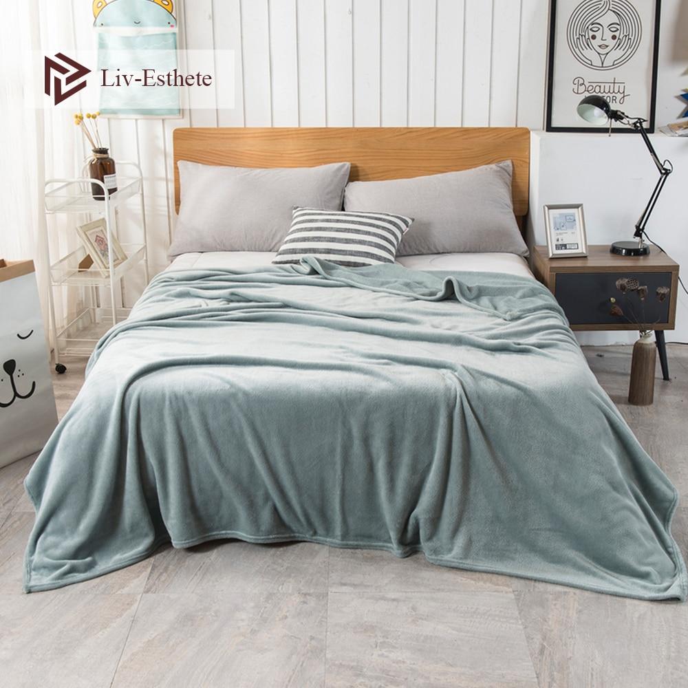 Liv-esthete moda venda quente cobertor de flanela folha de verão capa de cama sofá lance rainha king size coral velo cobertores 1 pcs