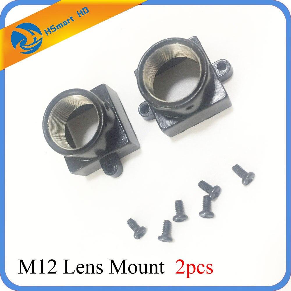 2 uds Metal M12 lente montaje MTV seguridad CCTV Cámara m12 soporte de lente soporte placa de soporte módulo para CCD AHD TVI 1080P mini Cam