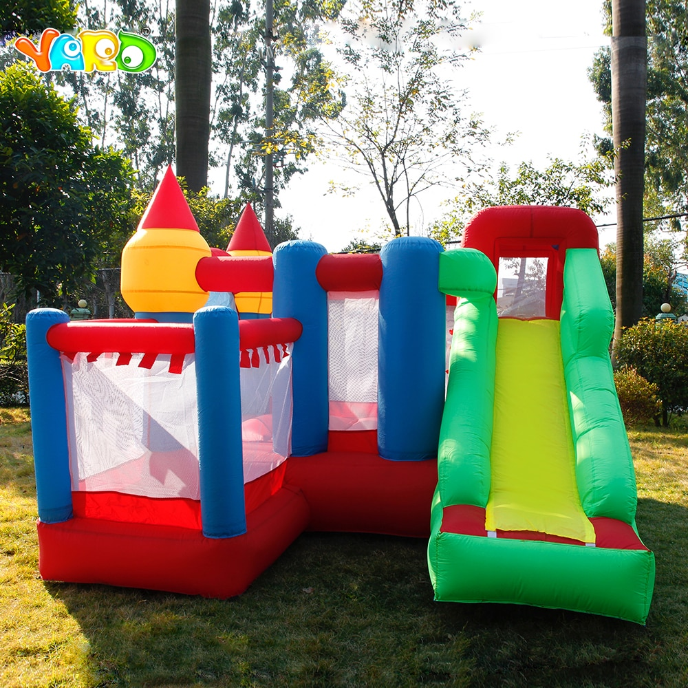YARD 3 x 3 x 2.1m Inflatable Jumper Bouncy Castle Nylon Oxford PVC Bouncer Jumping House Trampoline Bouncer with Blower for Kid yard bouncy castle inflatable jumping castles 3 5 3 2 7m trampoline for children house inflatable bouncer with slide blower