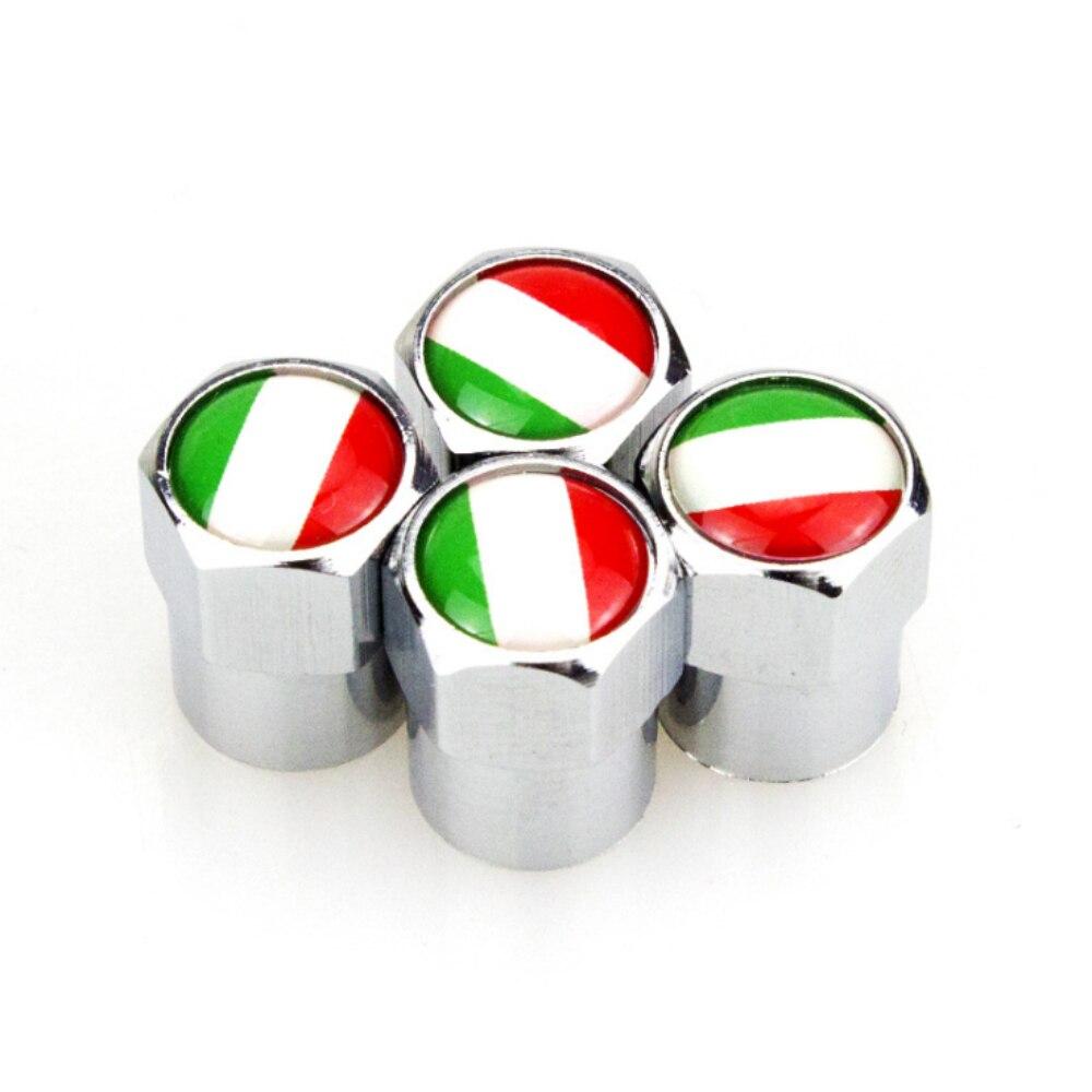 4 tapas de válvula de neumático de rueda de Metal con logotipo...
