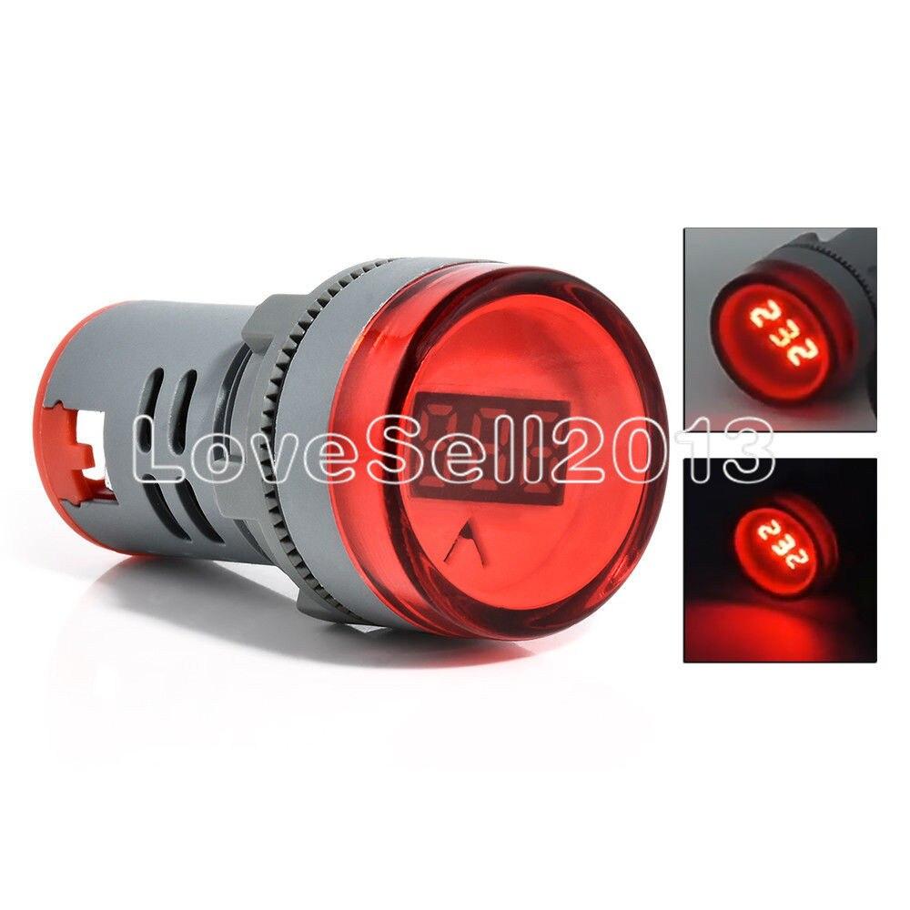 22 MM AC 60-500 V AC60-500V 0-50A LED affichage numérique jauge Volt AC voltmètre tension compteur indicateur lumière pilote rouge