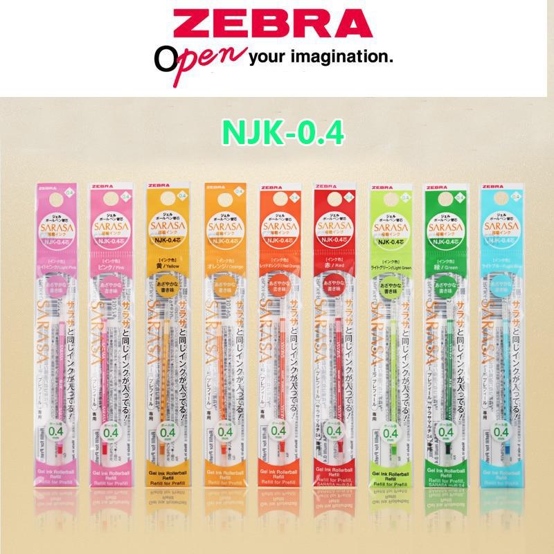 Recarga de carcasa de bolígrafo Zebra NJK-0.4 Prefill de 0,4mm suministros de recarga de bolígrafo colorido SARASA recambio de pluma de Gel