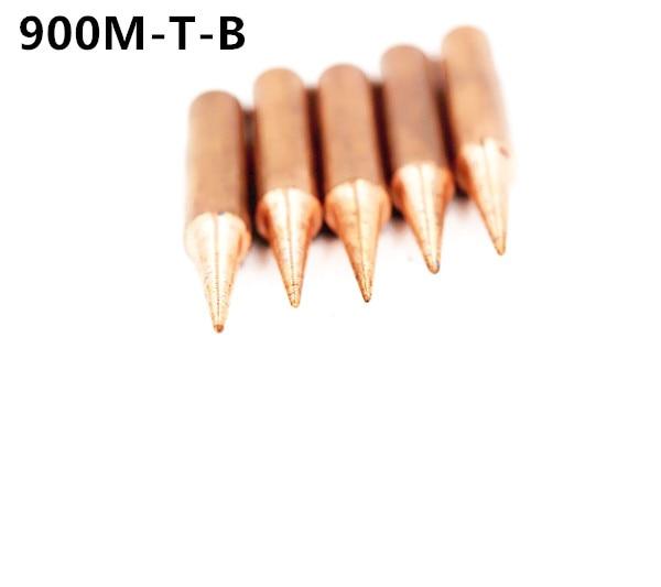 900M-T-B DIY de cobre puro de punta de soldadura sting para Hakko 936 FX-888D Saike 909D 852D + 952D K I SK es 1C 2C 3C 4C 5C 0.8D