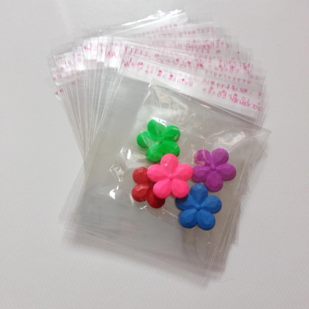 Bolsas de plástico transparente autoadhesivas para mujeres/telas/regalos/bolsas de joyería, bolsas pequeñas de plástico, bolsa de embalaje de exhibición, 500 Uds.