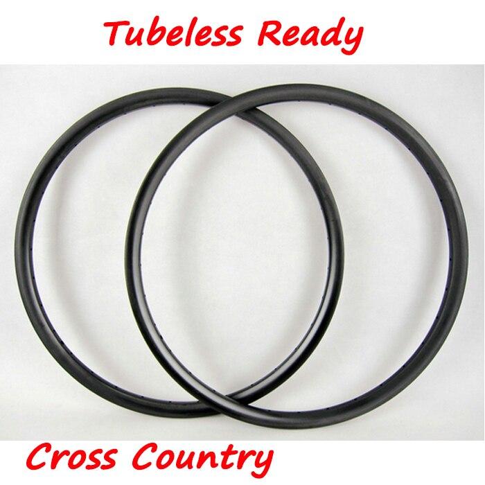 270G DEERACE 29er 27.5er 26er 24mm x 24mm Clincher Hookless Carbon MTB Bicycle Wheel Rims Tubeless Bike Rim for XC CROSS COUNTRY