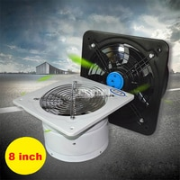 8 Inch High-speed Silent Exhaust Fan Stainless Steel Fan Blade Toilet Window Extractor Exhaust Ventilator Ventilation Fans 80W