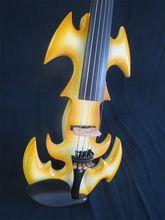 Design Original crazy-1 chanson jaune bois massif 5 cordes 4/4 violon électrique