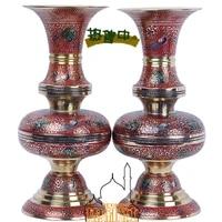 india hand painted vase modern fashion craft gift ornaments ruyi peacock vase home furnishing ornaments