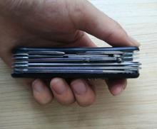 Açık Klasik çok fonksiyonlu Siyah Paslanmaz çelik İsviçre Bıçak için 111mm uzunluk kamp veya avcılık