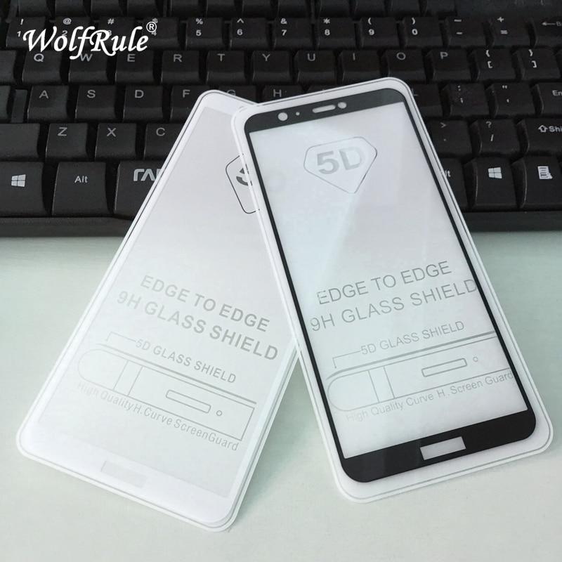 5D cubierta completa de pegamento vidrio templado Huawei P Protector Pantalla inteligente teléfono película para Huawei P vidrio completo inteligente Huawei Enjoy 7s