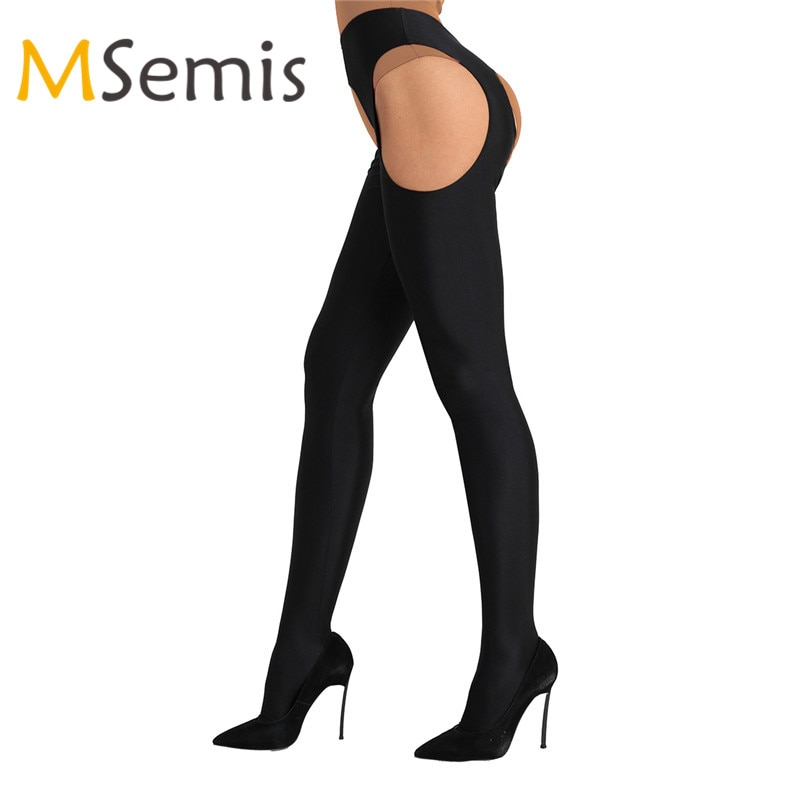 Lingerie feminina sexy meia-calça collants bodystockings oco para fora aberto virilha meias longas elásticas meias meias meias meias