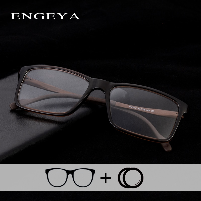 TR90 Optical Prescription Glasses Retro Brand Clear Myopia Computer Prescription Spectacles For Men