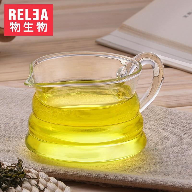 200ml vidrio transparente resistente al calor taza de feria hecho a mano kungfú chino tazas de té juego de té jarra de té con mango taza de vidrio de bebida