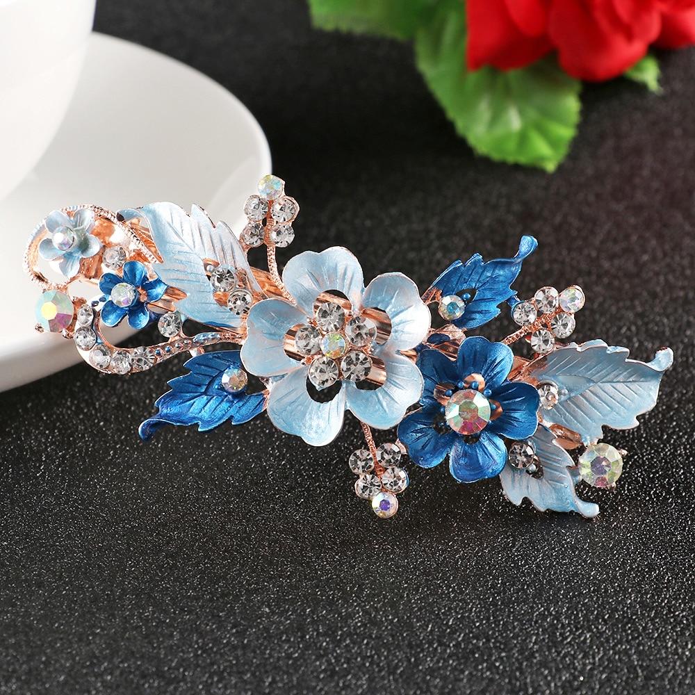 Barrette cristal hairpin flor barrettes resina foral grampo de cabelo headwear para mulher meninas acessórios de estilo de cabelo