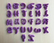 Coupe-gâteau anglais en forme de lettres 26   Outils de décoration pour gâteau fondant, moule de décoration pour gâteau moules à gâteaux 020173