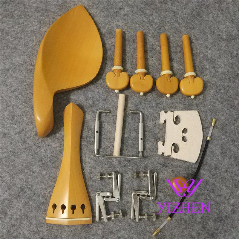 1 juego 4/4 piezas de accesorios de violín boj, pieza de cola inglesa, chinrest endpin 4 clavijas, piezas de violín