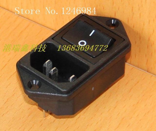 [SA] combinación triangular de toma de corriente alterna continua con interruptor negro 2107-CQ-2S -- 20 unids/lote