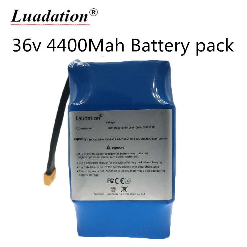 100% New Original 36v 4.4ah lithium battery 10s2p 36v battery 4400mAh lithium ion pack 42V 4400mah scooter twist car battery BMS