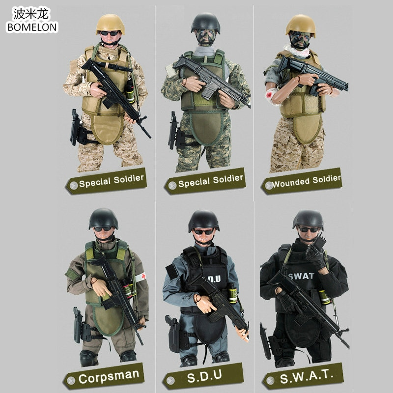 1/6 Scale Uniform Armies Toy Soldiers Action Figures Set 30CM Military Soldier Model Children Toys For Boys Gift 100pcs high soldier model military sandbox game plastic toy soldier army men figures for children s toy dolls gift