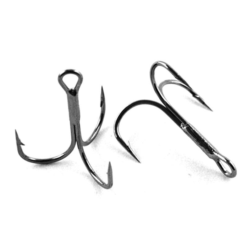 Promotion 100pcs Treble Hooks for Fishing Lures High Carbon Steel Trebles Saltwater Fish Hooks Wholesale Size 12/0 10/0 #6 #8 #1