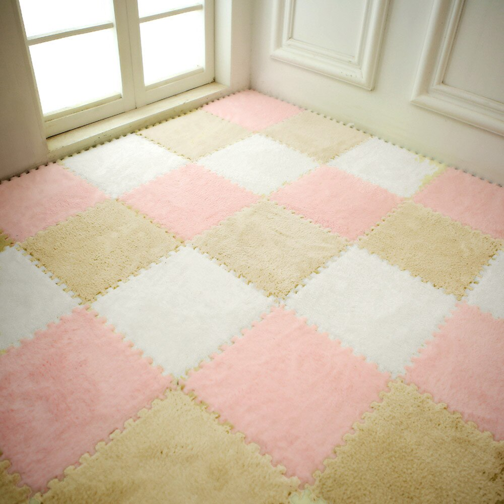 25X25cm suave para sala de estar Casa Europea cálida alfombra de felpa 7 colores tapetes para sala de niños alfombra de piel sintética alfombra de sala 21
