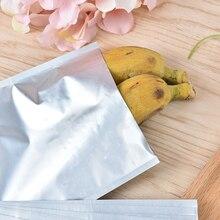 10pcs 12*18cm Silver Aluminum Foil Mylar Bag Vacuum Bag Sealer Food Storage Package