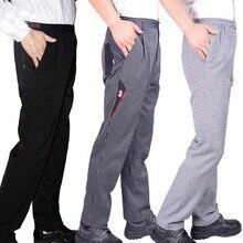 Pantalon de chef de cuisine, uniforme de cuisine pantalon de chef exécutif pantalon de chef noir blanc rayé élastique noir poivrons Migo uniforme de restaurant