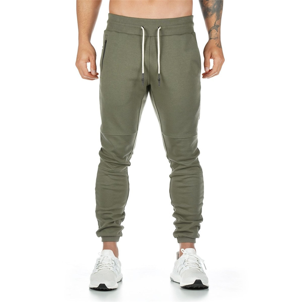 ركض Sweatpants الرجال سراويل تقليدية بلون صالات رياضية اللياقة البدنية تجريب رياضية بنطلون الخريف الشتاء الذكور السراويل الترنك كروسفيت