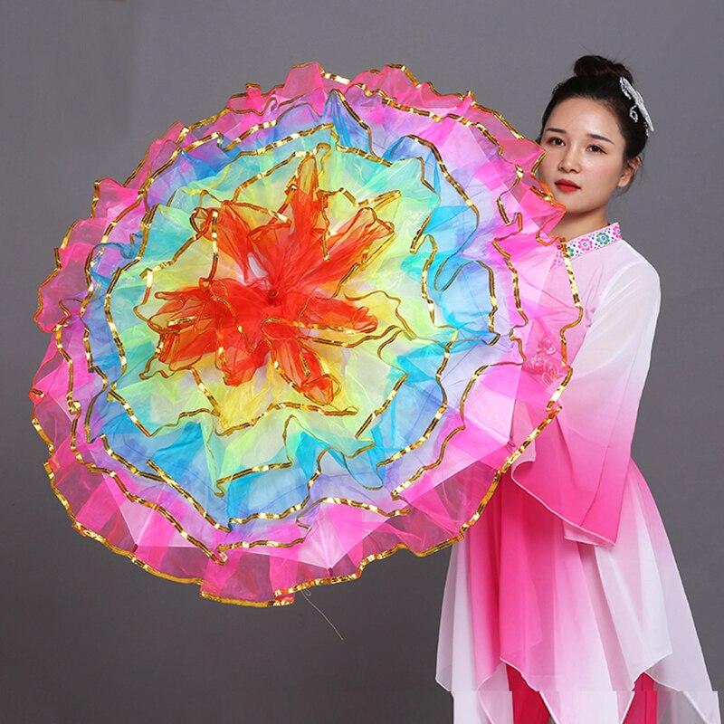 Танцевальный зонтик реквизит для танцев реквизит для сцены вентилятор открытие зонтик для танцев представление Цветочный зонтик китайски...