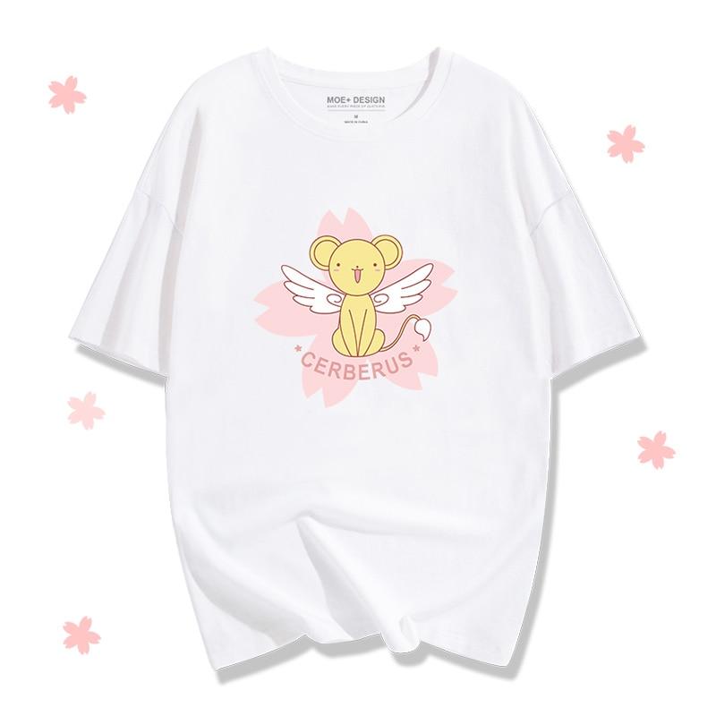 [Stock]Anime Card Captor Sakura CERBERUS Cosplay Costume CERBERUS Cosplay T shirt Cotton tshirt Summer T-shirt Unisex Tee Top fr