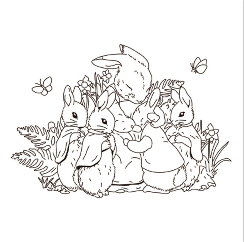 10x10 Bunny transparente sello de silicona transparente sello álbum para recortes de fotos decorativo claro sello