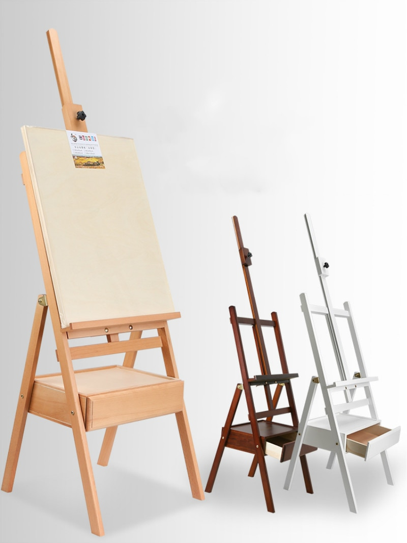 Solid Wood Easel Caballete De Pintura Artist Oil Paint Stand Atril Madera Watercolor Painting Stand Art Supplies for Artist enlarge