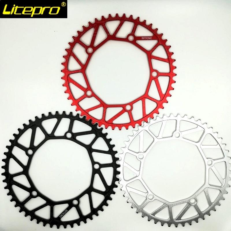 Litepro Faltrad Kette Rad 130BCD 48/50/52 T/54/56/58 T Schwarz silber Red Hohl Kettenblatt 9/10/11 Geschwindigkeit Einzigen Chian Disc