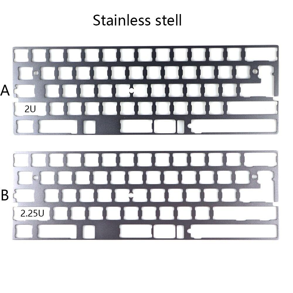 Cool Jazz-لوحة من سبائك الألومنيوم dz60 ، للوحة المفاتيح الميكانيكية ، الفولاذ المقاوم للصدأ ، gh60