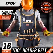 SEDY Bib Apron 16 Pocket Tool Bag Woodworking Gardening Craft Mechanic Oxford Cloth for Tool Storage Organizer Tool kit
