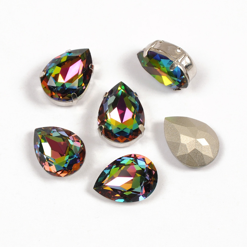 4320 pérola gota strass todos os tamanhos vm gota beleza diamante strass flatback vidro strass costurar em cristal para vestido