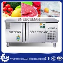 Armoire de comptoir de congélateur commercial de machine dentreposage au froid et de congélation dacier inoxydable de 1.2