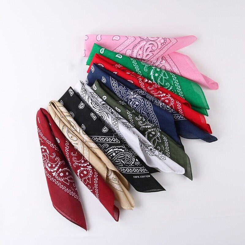 Хлопковые квадратные шарфы Luna & Dolphin 54x54 см, классические банданы унисекс в стиле хип-хоп, мужские и женские винтажные шарфики с рисунком Пейсли