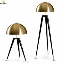 Nordique trépied lampe de Table moderne Simple chambre Table de chevet lumière salon décor or abat-jour maison éclairage Luminaria
