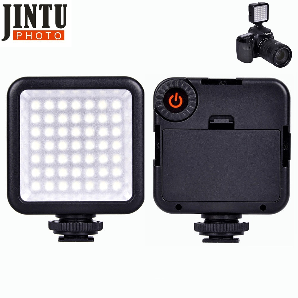 Jintu Mini W49 49 luz led para vídeo Cámara lámpara luz foto iluminación para Canon/para Nikon/para cámara Sony o videocámara smartphone