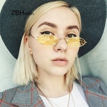 Retro Kleine Ovale Zonnebril Vrouwen Vrouwelijke Vintage Hip Hop Balck Retro Zonnebril dame Luxe Merk Brillen