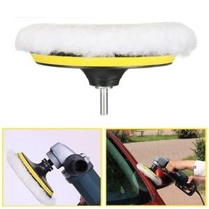 Image 4 - Автомобильная Губка 4/5/3/8 Для Полировки Автомобиля, набор полировальных накладок для воска (5 полировальных накладок + 1 шерстяной буфер + 1 клейкая Задняя накладка)