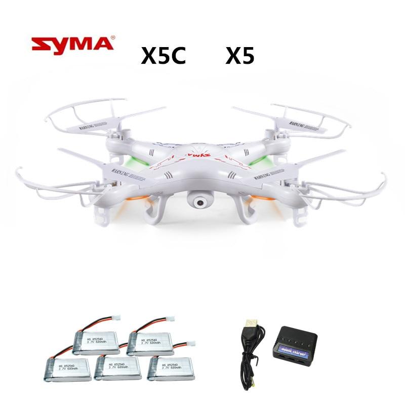 Syma X5C X5C-1 (Drone with Camera 2.0MP) Quadrocopter with Camera RC Drone Quadcopter or Syma X5 X5-1 (No Camera) 2.4G 4CH Dron