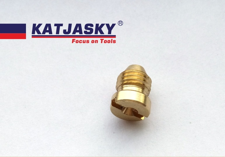 100 unids/lote KATJASKY espuma generador jet hole dia.1.1mm orificio tornillo de boquilla