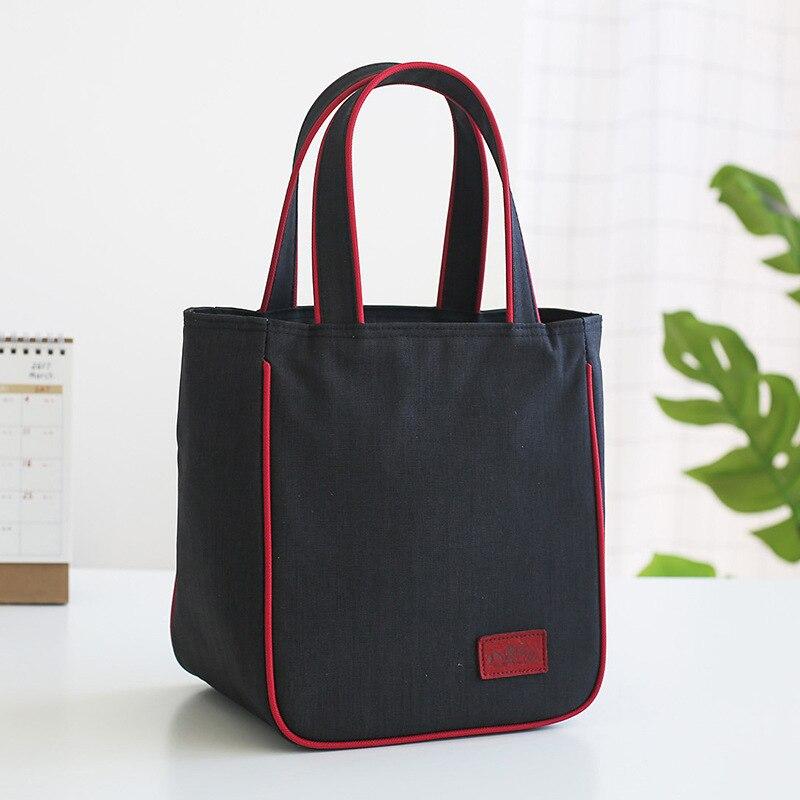 جديد حقيبة الغداء الموضة الحرارية الغذاء حقيبة معزولة حراريًا النساء والأطفال عادية مبرد للسفر حقيبة تخييم الحرارية سمكا وأكثر دفئا