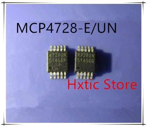 NEUE 10 teile/los MCP4728-E/UN MCP4728 4728 4728UN MSOP10 DAC 12BIT W/I2C IC
