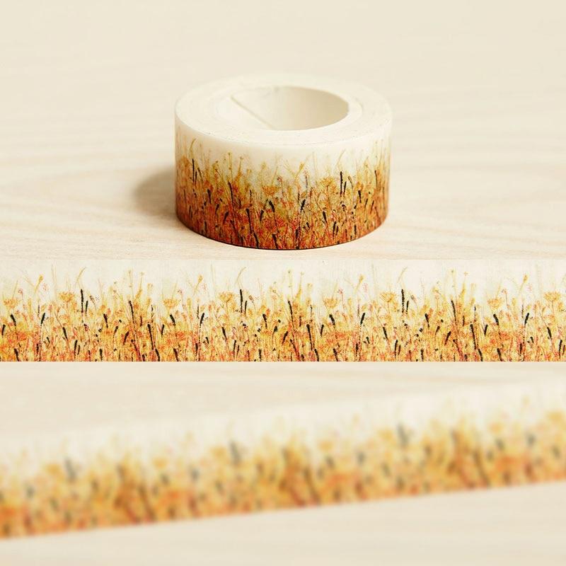 2cm*10m Autumn Grass washi tape diy decoration for scrapbooking masking tape adhesive tape